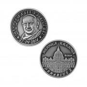 Jan Paweł II Nowe Srebro oksydowane st. odwrócony wersja krajowa