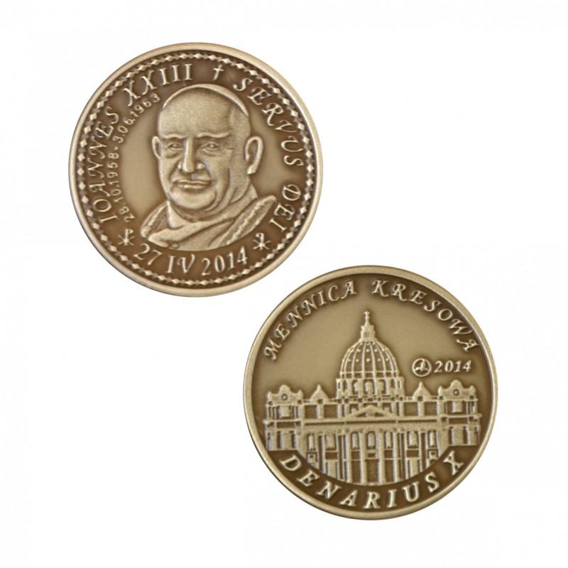 Jan XXIII mosiądz patynowany st. odwrócony  wersja krajowa