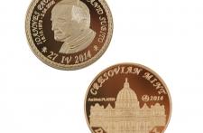 Jan Paweł II mosiądz platerowany złotem wersja eksportowa
