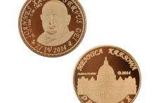 Jan XXIII mosiądz platerowany złotem st. odwrócony wersja krajowa