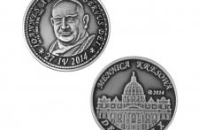 Jan XXIII Nowe Srebro oksydowane st. odwrócony wersja krajowa
