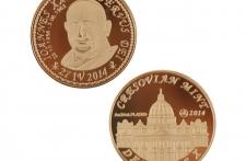 Jan XXIII mosiądz platerowany złotem wersja eksportowa