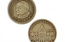 Jan Paweł II mosiądz patynowany st. odwrócony  wersja krajowa