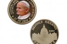 Jan Paweł II mosiądz tampodruk st. zwykły wersja krajowa