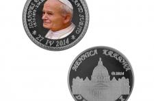 Jan Paweł II Nowe Srebro tampodruk st. zwykły wersja krajowa