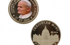 Jan Paweł II mosiądz tampodruk st. zwykły wersja eksportowa