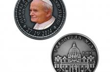 Jan Paweł II Nowe Srebro oksydowane tampodruk st. zwykły  wersja eksportowa