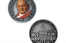 Jan XXIII Nowe Srebro oksydowane tampodruk st. zwykły  wersja eksportowa