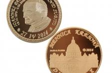 Jan Paweł II mosiądz platerowany złotem st. odwrócony wersja krajowa